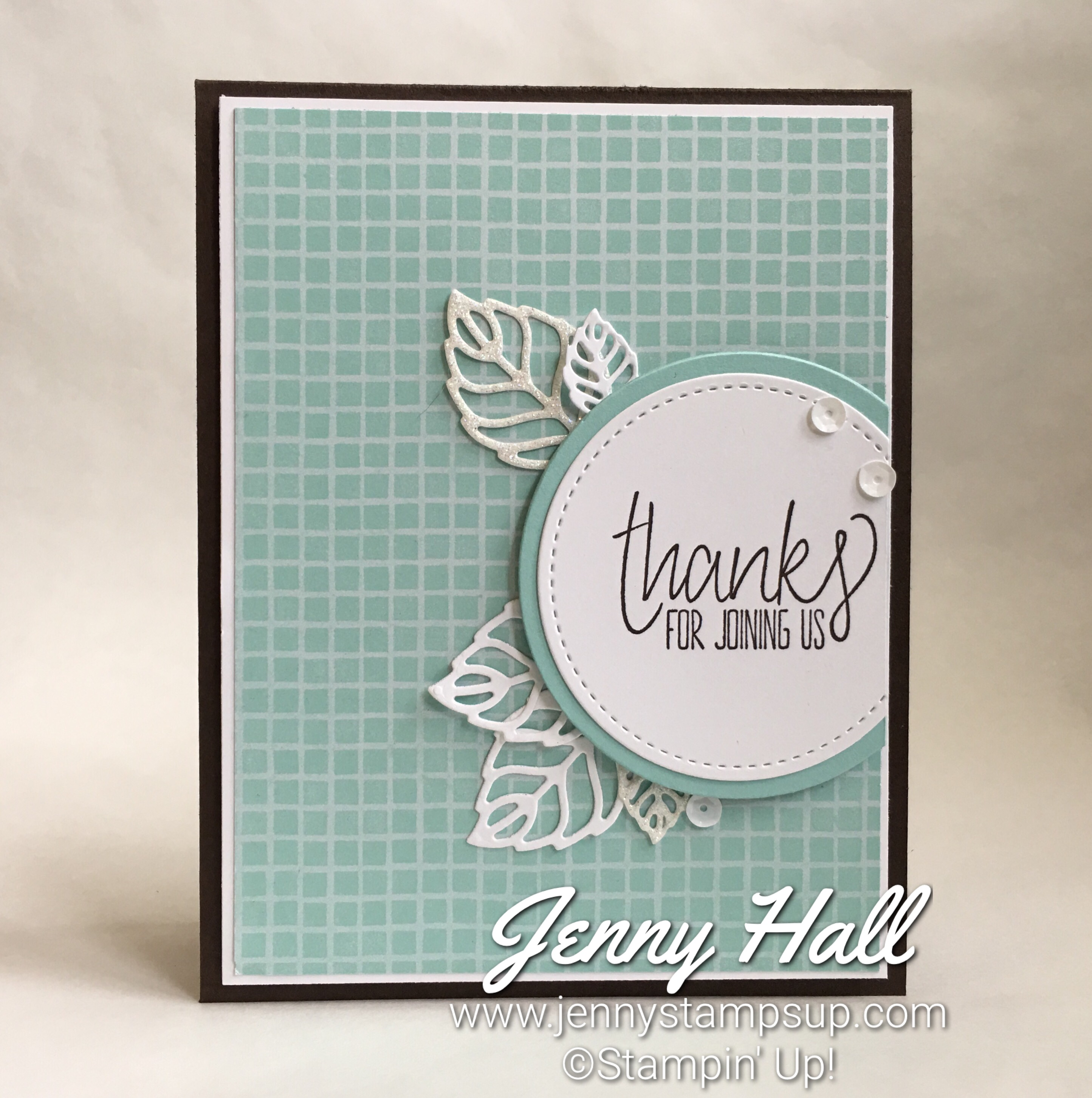 All Things Thanks stamp set with Tasty Treats DSP from the 2017 Occasions Catalog, paired with Stylish Stems Framelits dies, Layering Circles and Stitched Shapes dies