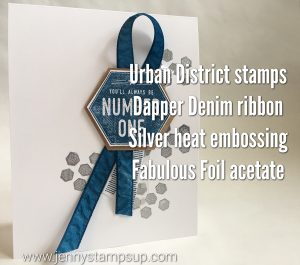 Urban District stamp set from 2017 Occasions Catalog. I made these for my demonstrator team!