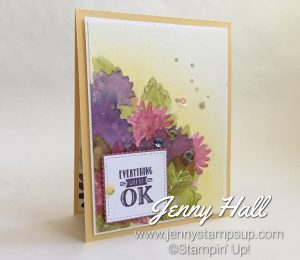 Special Reason stamps in spring colors using watercolor with Jenny Hall at www.jennyhalldesign.com