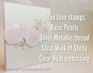 Waterclored flowers with So In Love stamps by Jenny Hall www.jennyhalldesign.com