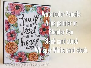 Watercolor Pencils on a coloring page with Jenny Hall www.jennyhalldesign.com