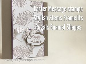 Easter Message stamp set card by Jenny Hall www.jennyhalldesign.com
