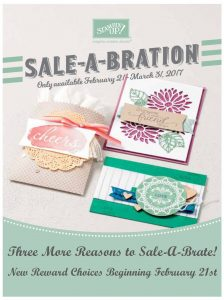 Sale-A-Bration 2nd Release on Feb 21st, three new items to choose from as your free gift with $50 product purchase! Shop online at www.jennyhalldesign.com