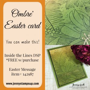 Ombre Easter card by Jenny Hall www.jennyhalldesign.com