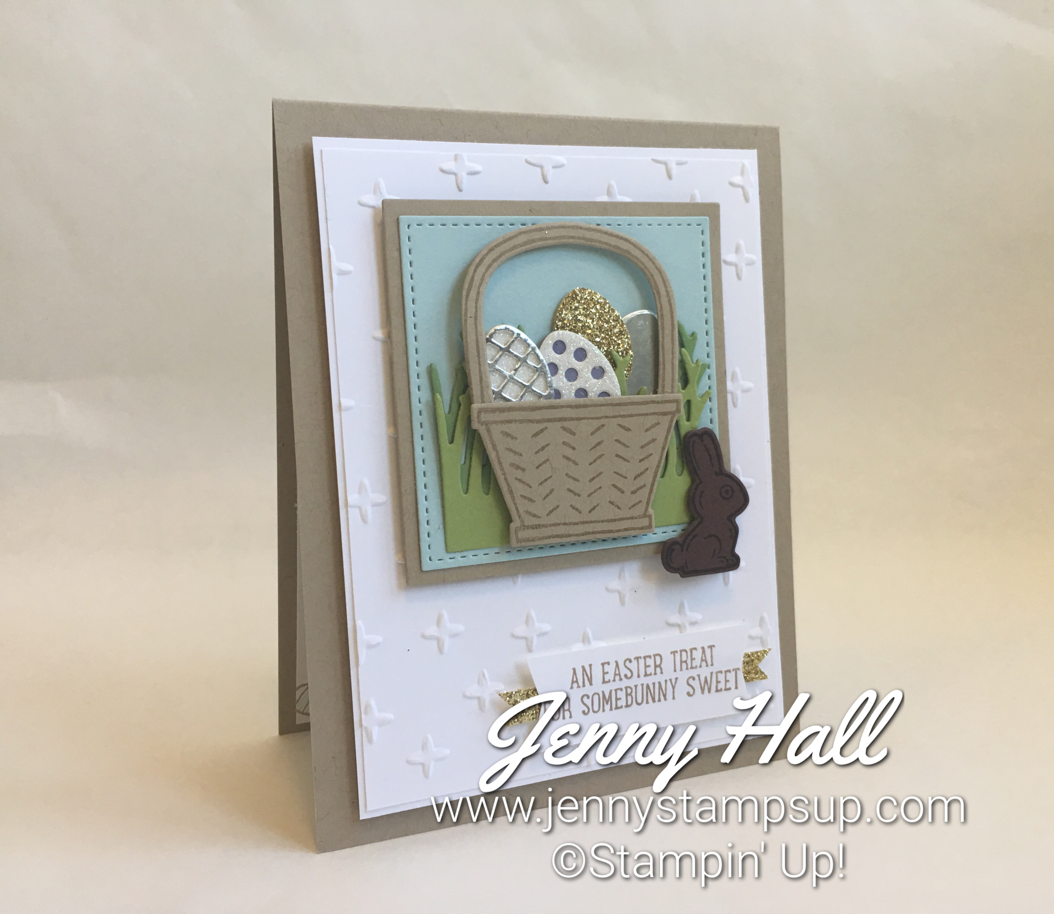 retiring dies Easter card made with Basket Bunch Bundle by Jenny Hall at www.jennyhalldesign.com
