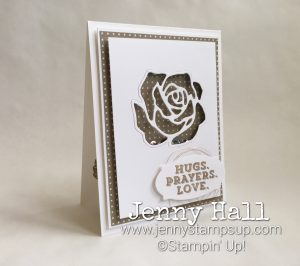 Sending Thoughts & Rose Garden dies shaker card by Jenny Hall at www.jennyhalldesign.com