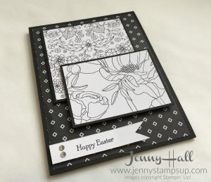 Black and White simple Easter card by Jenny Hall at www.jennyhalldesign.com