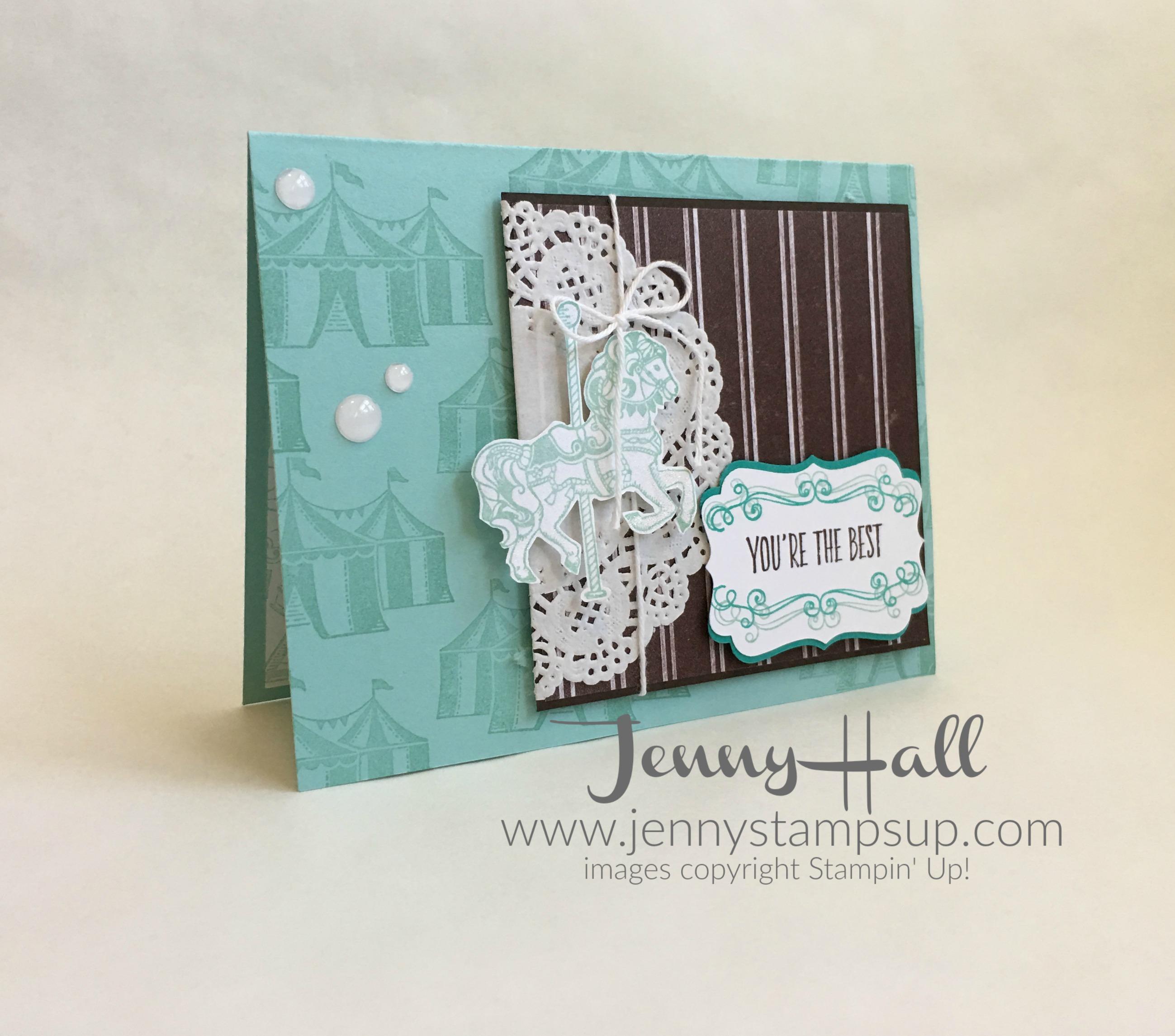 Carousel Birthday card by Jenny Hall at www.jennyhalldesign.com