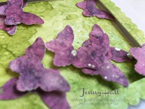 Punched and die cut shapes from watercolor paper by Jenny Hall at www.jennyhalldesign.com