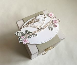 Decorated gift box by Jenny Hall at www.jennyhalldesign.com