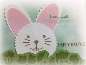 creating a bunny card with March 2017 paper pumpkin kit by Jenny Hall www.jennyhalldesign.com