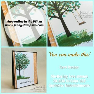 Sheltering Tree thank you card by Jenny Hall at www.jennyhalldesign.com