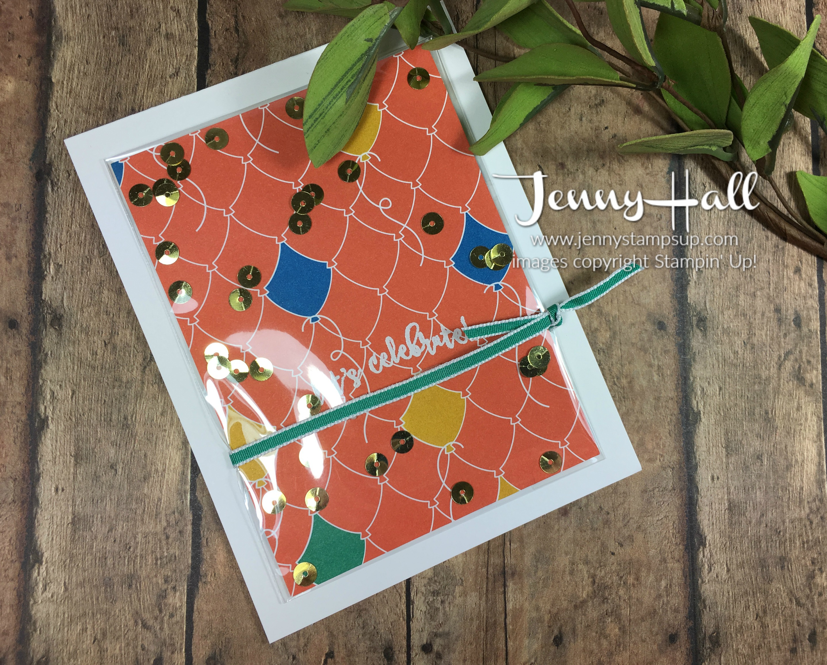 Simple shaker card by Jenny Hall www.jennyhalldesign.com