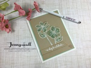 White Heat Embossing by Jenny Hall www.jennyhalldesign.com