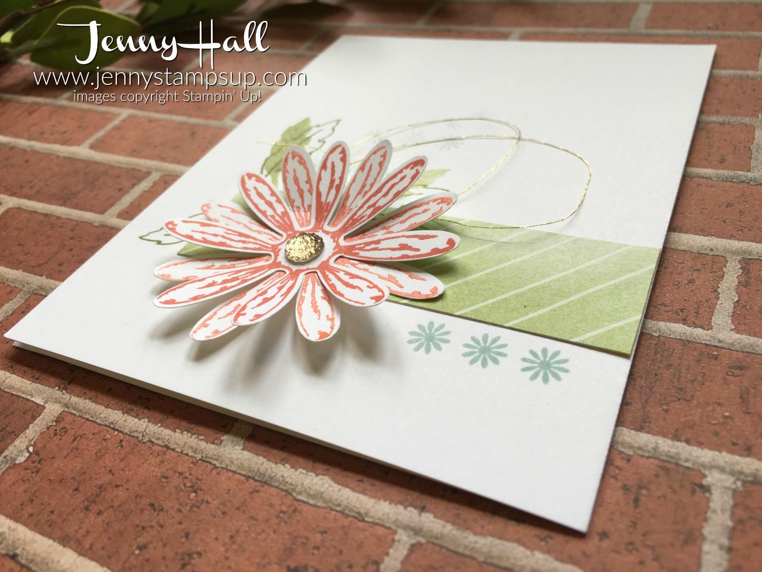 One Layer Daisy card