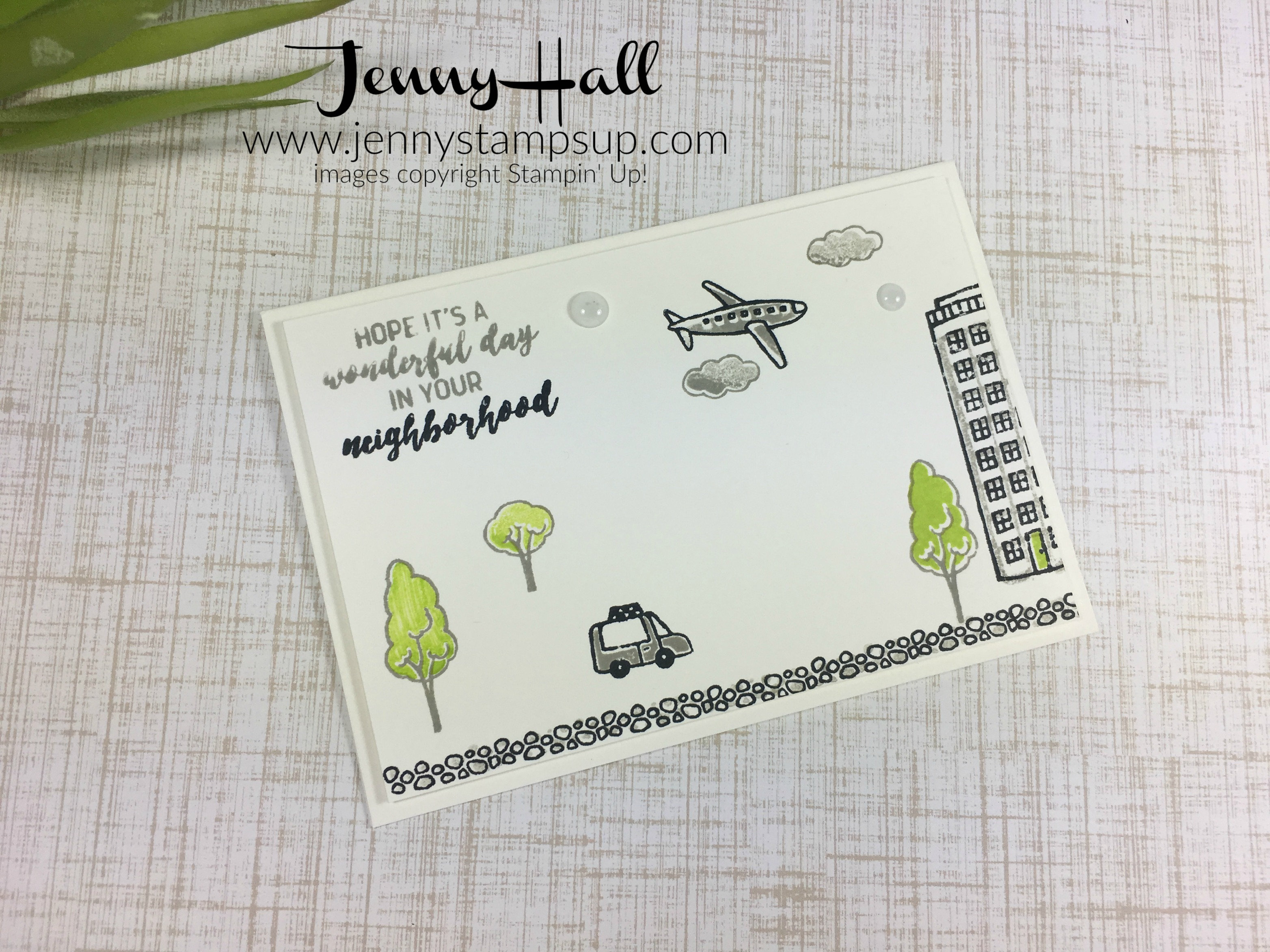 In the City notecard by Jenny Hall www.jennyhalldesign.com