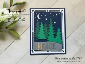 Textured Die Cuts from Carols of Christmas stamps and Card Front Builder Thinlits Dies from Stampin' Up! with Jenny Hall Independent Stampin Up Demonstrator at www.jennyhalldesign.com for cardmaking papercrafts scrapbooking kid friendly arts and crafts and more