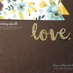 scrapbook page using embossing paste