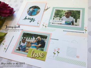 scrapbooking with July Paper Pumpkin supplies with Jenny Hall at www.jennyhalldesign.com