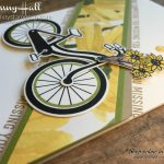 Bike Ride stamp set by Jenny Hall Design at www.jennyhalldesign.com for cardmaking scrapbooking Papercrafts free video tutorials and more