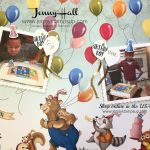 Birthday Delivery by Jenny Hall at www.jennyhalldesign.com for cardmaking, scrapbooking, free tutorials and more