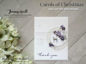 carols of christmas thank you card by Jenny Hall at www.jennyhalldesign.com