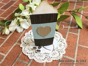coffee cafe easel card