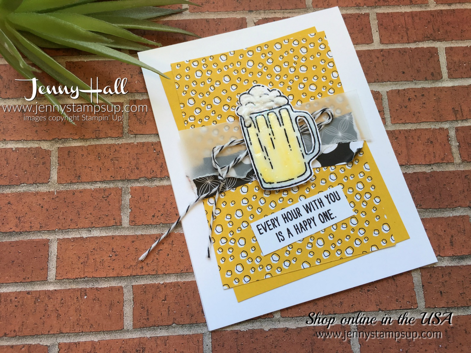 mixed drinks stamp set by Jenny Hall at www.jennyhalldesign.com