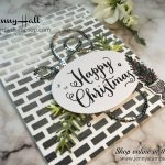 Embossing a card base with video tutorial by Jenny Hall Design at www.jennyhalldesign.com for cardmaking papercrafts scrapbooking video tutorials and more
