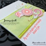 how to create a floral spray on a handmade card by Jenny Hall at www.jennyhalldesign.com