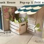 Pop Up Z Fold Beach House card by Jenny Hall at www.jennyhalldesign.com for cardmaking, video tutorials, papercraft gift giving and more