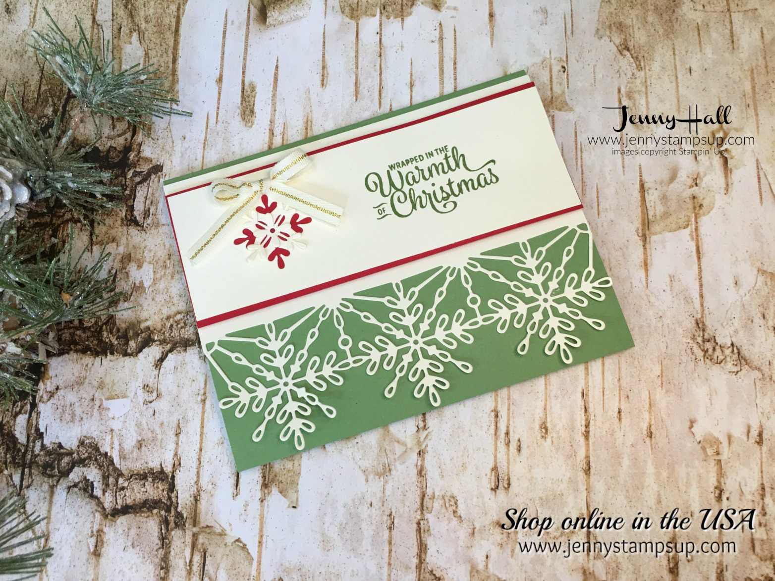 Snowflake Sentiments card by Jenny Hall at www.jennyhalldesign.com for cardmaking, scrapbooking, video tutorials, papercraft gift giving and free tutorials