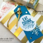 snowflake sentiments gift tag by Jenny Hall at www.jennyhalldesign.com for cardmaking, papercraft gift giving, scrapbooking and video tutorials
