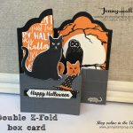 Halloween double z fold box card by Jenny Hall at www.jennyhalldesign.com for cardmaking, papercrafts, video tutorials, scrapbooking and more