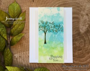 Thoughts & Prayers stamp set for Ink & Inspiration Blog Hop by Jenny Hall at www.jennyhalldesign.com for cardmaking video tutorials papercrafts scrapbooking and more