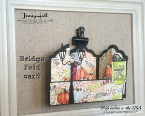 Bridge Fold Card by Jenny Hall at www.jennyhalldesign.com for cardmaking, papercraft gift giving, scrapbooking, video tutorials and more!