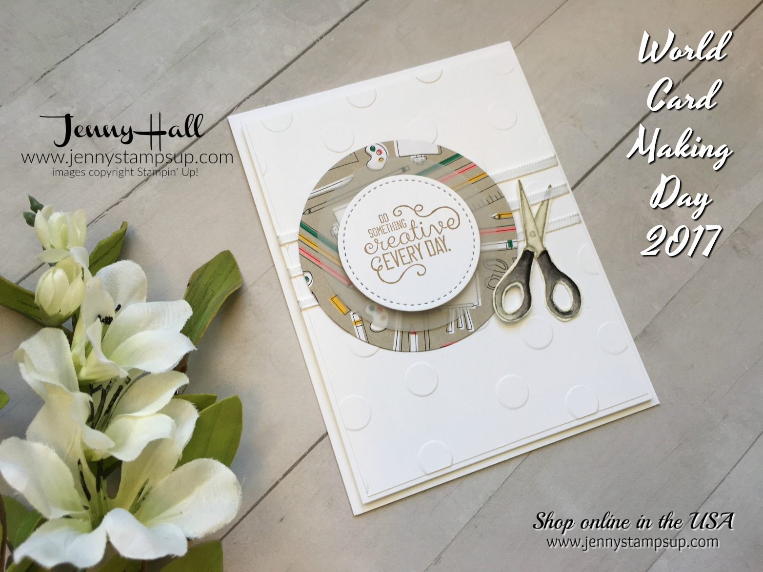 world card making day blog hop by Jenny Hall at www.jennyhalldesign.com