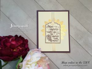 Half Full stamp set card by Jenny Hall at www.jennyhalldesign.com for cardmaking, papercraft gift giving, watercolor, free video tutorials and more!