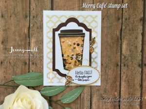 Merry Cafe' card by Jenny Hall at www.jennyhalldesign.com for cardmaking, scrapbooking, papercraft gift giving, video tutorials and more!