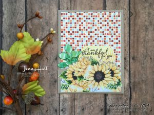 Fun Fold card with Painted Harvest by Jenny Hall at www.jennyhalldesign.comm for cardmaking, papercraft gift giving, scrapbooking, video tutorials and more!