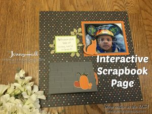 Halloween theme scrapbook page by Jenny Hall at www.jennyhalldesign.com for scrapbooking, cardmaking, video tutorials, papercrafts and more!