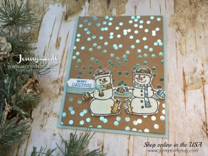 Seasonal Chums card by Jenny Hall at www.jennyhalldesign.com for cardmaking, scrapbooking, papercraft gift giving, video tutorials and more!