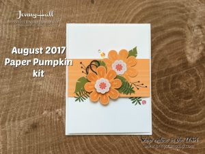 August 2017 Paper Pumpkin kit alternative card by Jenny Hall at www.jennyhalldesign.com for cardmaking, scrapbooking, papercrafts, free video tutorials and more!
