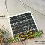2017 Christmas Ornament Tutorial Series project #2 by Jenny Hall using Stampin' Up! products at www.jennyhalldesign.com for cardmaking, video tutorials, scrapbooking, papercraft gift giving and more!