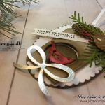 2017 Christmas Ornament Tutorial Series project #4 by Jenny Hall using Stampin' Up! products at www.jennyhalldesign.com for cardmaking, Video tutorials, scrapbooking, papercraft gift giving, handmade love and more!