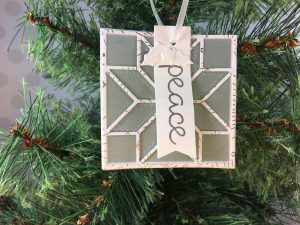 2017 Christmas Ornament Tutorial Series project using Stampin' Up! products with Jenny Hall at www.jennyhalldesign.com for cardmaking, papercraft gift giving, scrapbooking, video tutorials and more!
