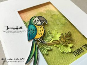 Watercolor smooshing technique card by Jenny Hall that was created for 2017 OnStage Display More info at www.jennyhalldesign.com for cardmaking, scrapbooking, video tutorials, papercraft gift giving and more!