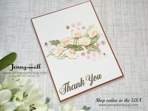 Crazy Crafters Blog Hop Guest Designer card with daisies by Jenny Hall at www.jennyhalldesign.com for cardmaking, scrapbooking, video tutorials, papercraft gifts and more!