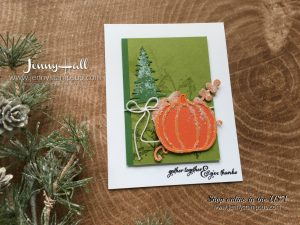 Pick a pumpkin stamp set card by Jenny Hall at www.jennyhalldesign.com for cardmaking, papercrafts, video tutorials, scrapbooking and more!