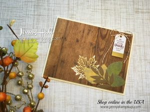 Handmade card by Jenny Hall using September 2017 Paper Pumpkin Kit for the Fab Friday sketch challenge using Stampin' Up! products at www.jennyhalldesign.com for more designs by Jenny Hall for cardmaking, papercraft gift giving, video tutorials, scrapbooking and more!